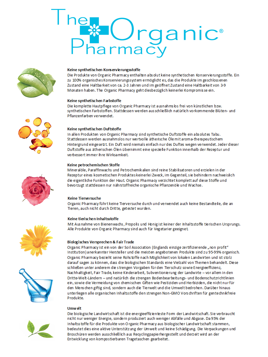 The Organic Pharmacy Versprechen